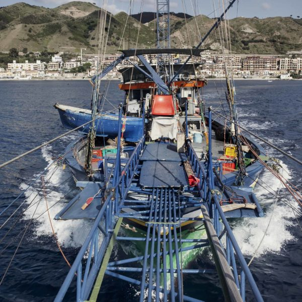 Fishing the swordfish to Stretto of Messina (Sicily) with Arena family on Simone boat.